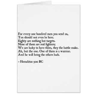 Cita de Heraclitus Tarjeta De Felicitación