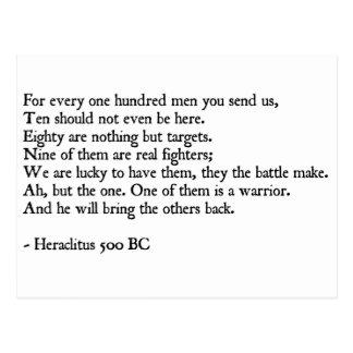 Cita de Heraclitus Tarjetas Postales
