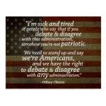 Cita de Hillary Clinton Postal