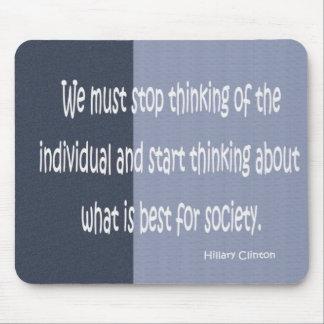 cita de hillary Clinton Alfombrilla De Ratones