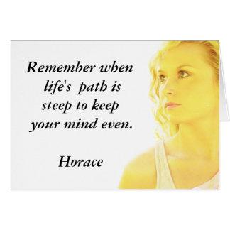 Cita de Horacio - tarjeta de felicitación