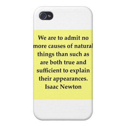 cita de Isaac Newton iPhone 4 Coberturas