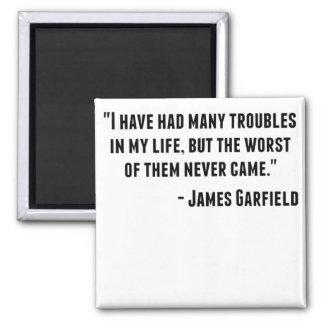 Cita de James Garfield Imán Cuadrado