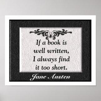 Cita de Jane Austen Posters