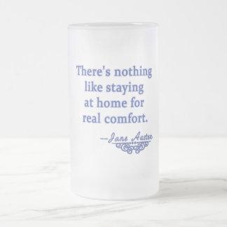 Cita de Jane Austen sobre hogar Taza De Cristal