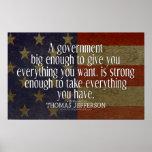 Cita de Jefferson en el gobierno grande Impresiones
