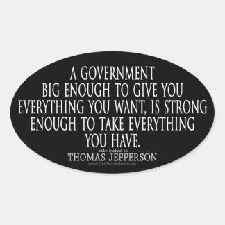 Cita de Jefferson en el gobierno grande