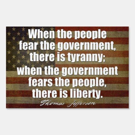 Cita de Jefferson en libertad y tiranía Cartel