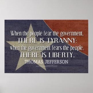 Cita de Jefferson en libertad y tiranía Impresiones