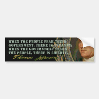 Cita de Jefferson: Gobierno y la gente Pegatina Para Auto
