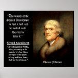 Cita de Jefferson - la belleza de la 2da enmienda Póster