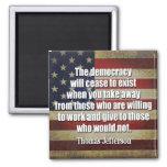 Cita de Jefferson: La democracia cesará… Iman De Frigorífico