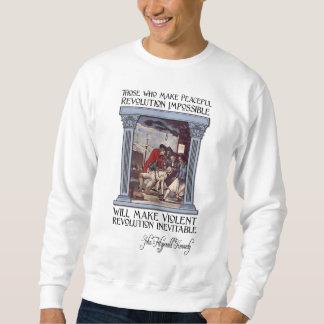 Cita de JFK en la revolución pacífica o violenta Suéter