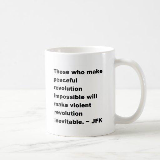 Cita de JFK Taza