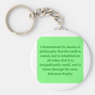 Cita de Johannes Kepler Llavero Redondo Tipo Pin