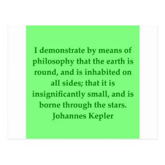 Cita de Johannes Kepler Postal