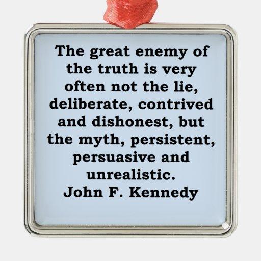 cita de John F. Kennedy Adornos De Navidad