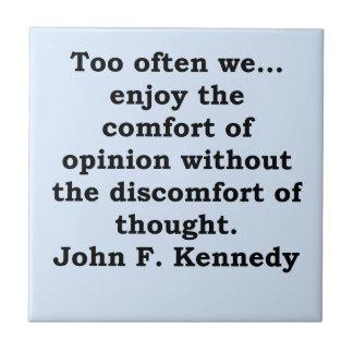 cita de John F. Kennedy Azulejo Cuadrado Pequeño