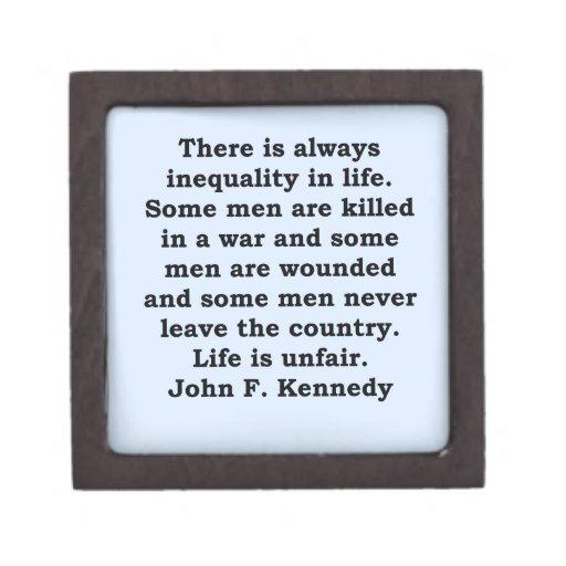cita de John F. Kennedy Caja De Regalo De Calidad