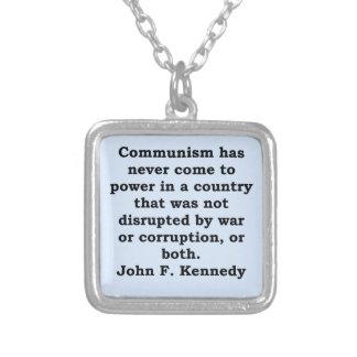 cita de John F. Kennedy Collar Personalizado