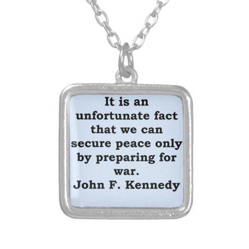 cita de John F. Kennedy Collares Personalizados