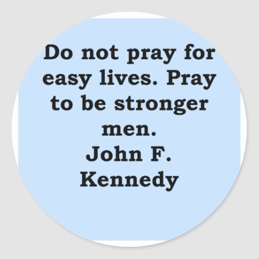 cita de John F. Kennedy Etiqueta