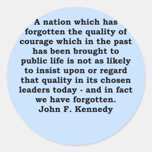 cita de John F. Kennedy Etiquetas Redondas