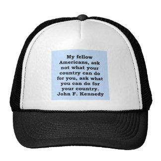cita de John F. Kennedy Gorras