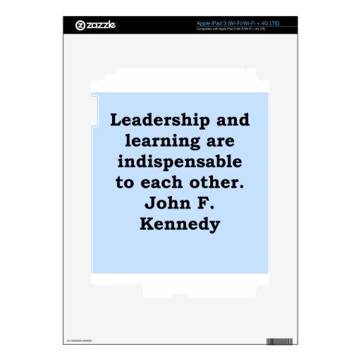 cita de John F. Kennedy iPad 3 Skins