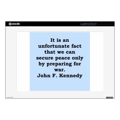 cita de John F. Kennedy 38,1cm Portátil Calcomanías