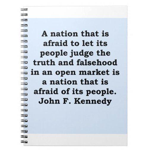 cita de John F. Kennedy Libreta Espiral