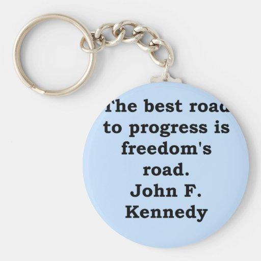 cita de John F. Kennedy Llavero