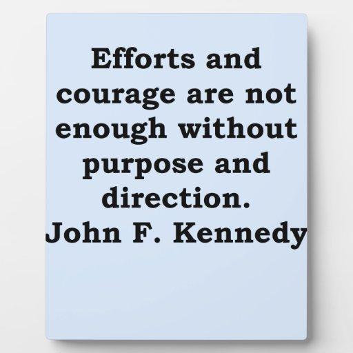 cita de John F. Kennedy Placas De Plastico