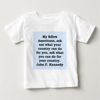 cita de John F. Kennedy Camisetas