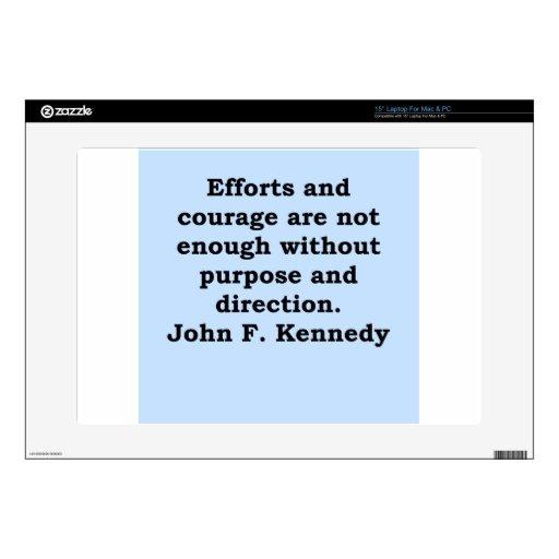 cita de John F. Kennedy Portátil 38,1cm Skin