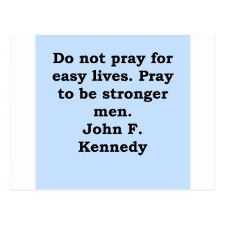 cita de John F. Kennedy Postal