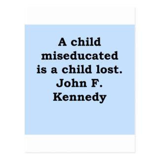 cita de John F. Kennedy Postales