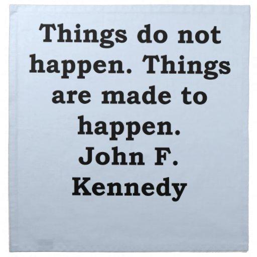 cita de John F. Kennedy Servilleta Imprimida