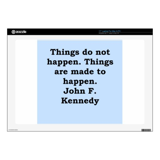 cita de John F. Kennedy Skins Para 43,2cm Portátiles