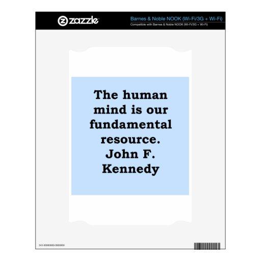 cita de John F. Kennedy Skins Para elNOOK