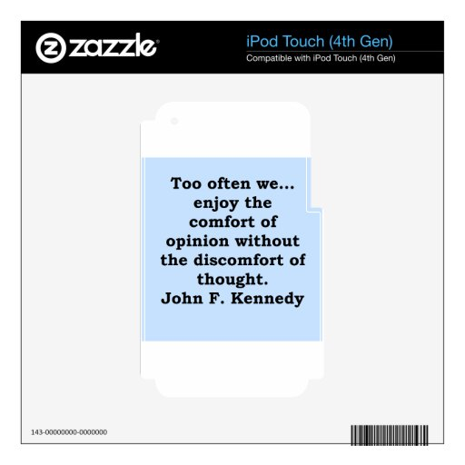 cita de John F. Kennedy Skins Para iPod Touch 4G