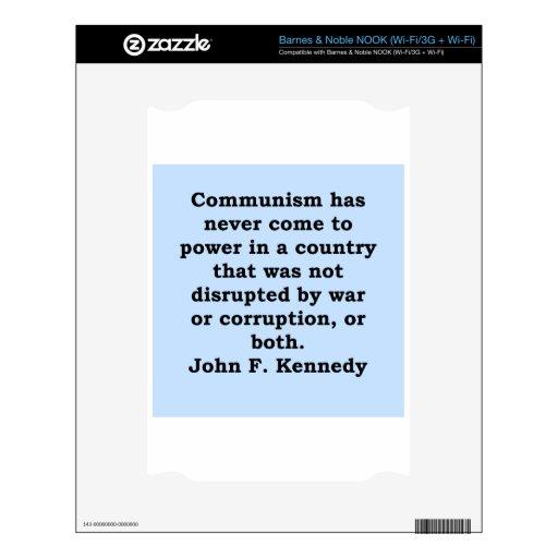cita de John F. Kennedy Skins Para NOOK