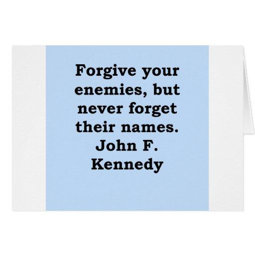 cita de John F. Kennedy Tarjeta De Felicitación