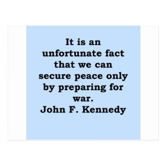 cita de John F. Kennedy Tarjetas Postales