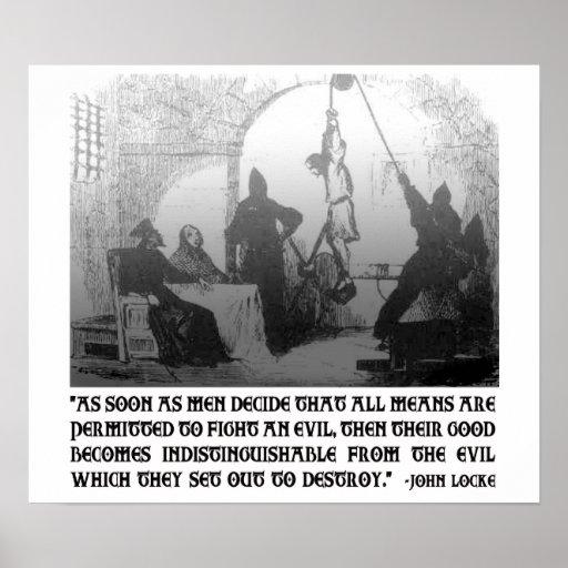 Cita de John Locke en los extremos y los medios Poster