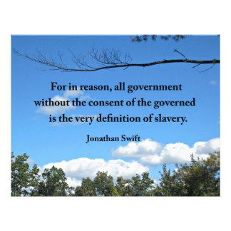 Cita de Jonathan Swift sobre el gobierno Plantilla De Membrete