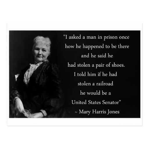 Cita de Jones de la madre Tarjetas Postales