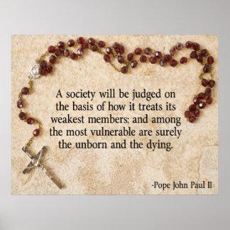 Cita de Juan Pablo II Póster