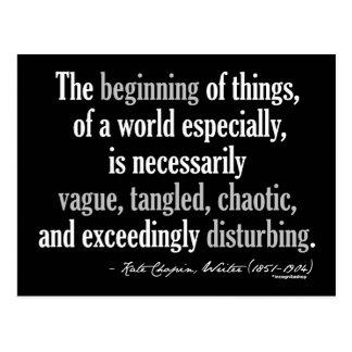 Cita de Kate Chopin Postal