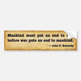 Cita de Kennedy Etiqueta De Parachoque